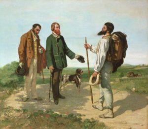 La Rencontre or Bonjour Monsieur Courbet, 1854 by Gustave Courbet