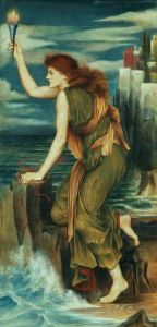 Hero Awaiting the Return of Leander by Evelyn de Morgan