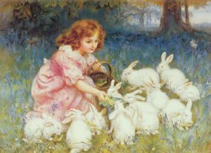 Feeding the Rabbits by Frederick Morgan