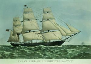 The Clipper ship 'Highflyer' by Anonymous