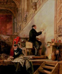 Daniel Maclise painting 'The Death of Nelson', 1865 by John Ballantyne
