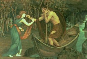 Charon and Psyche by John Roddam Spencer Stanhope