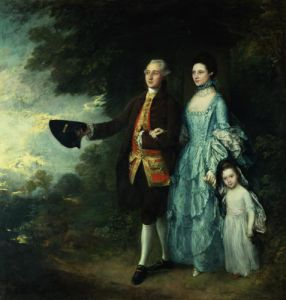 Mr. & Mrs. George Byam and their eldest daughter by Thomas Gainsborough