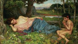Listen to my Sweet Pipings, 1911 by John William Waterhouse