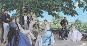 Family reunion, 1867 by Jean Frederic Bazille