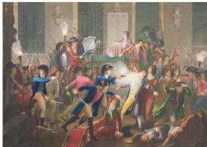 The Arrest of Robespierre by Jean Joseph Francois Tassaert