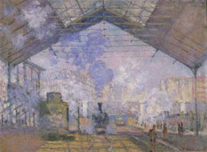 The Gare St. Lazare, 1877 by Claude Monet