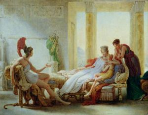 Aeneas telling Dido of the Disaster at Troy, 1815 by Baron Pierre-Narcisse Guerin