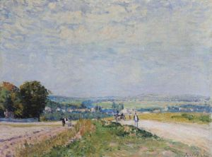 The Road to Montbuisson at Louveciennes, 1875 by Alfred Sisley
