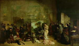 The Studio of the Painter, a Real Allegory, 1855 by Gustave Courbet