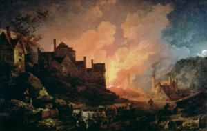 Coalbrookdale by Night, 1808 by Philippe Jacques de Loutherbourg