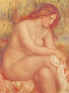 Bather Drying Herself, c.1910 by Pierre Auguste Renoir