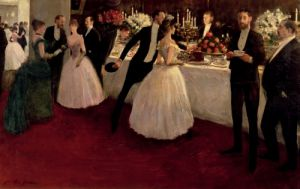 The Buffet, 1884 by Jean-Louis Forain