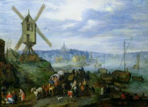 River Landscape by Jan Bruegel The Younger