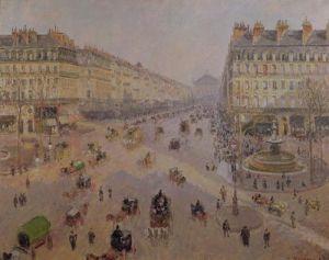 The Avenue de L'Opera, Paris, c.1880 by Camille Pissarro