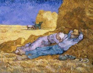 The Siesta by Vincent Van Gogh