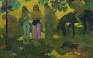 Rupe Rupe (Fruit Gathering), 1899 by Paul Gauguin