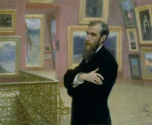 Portrait of Pavel Tretyakov, 1901 by Ilya Efimovich Repin