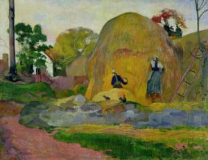 Yellow Haystacks, or Golden Harvest, 1889 by Paul Gauguin