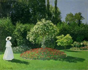 Woman in a Garden, 1867 by Claude Monet