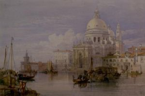 Santa Maria della Salute from the Grand Canal, Venice by William Leighton Leitch