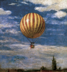 The Balloon, 1878 by Pal Szinyei Merse