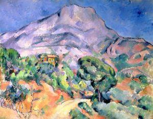 Mont Saint Victoire, 1900 by Paul Cezanne