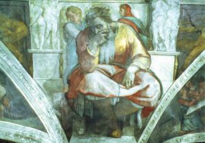 Sistine Chapel Ceiling: The Prophet Jeremiah by Michelangelo