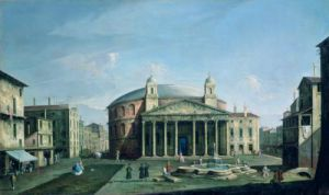 The Pantheon in Rome by Bernardo Bellotto