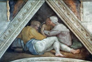 Sistine Chapel Ceiling: The Ancestors of Christ by Michelangelo