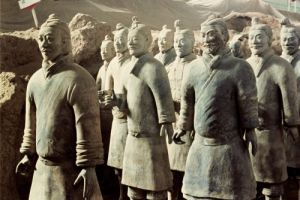 Terracotta Army, Qin Dynasty, 210 BC; warriors (Detail) by Anonymous