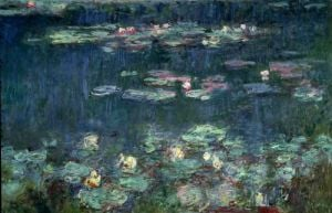 Waterlilies: Green Reflections, 1914 by Claude Monet