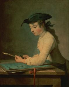 The Young Draughtsman, 1737 by Jean Baptiste Chardin