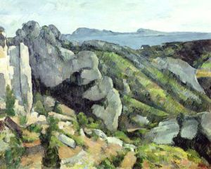 Rocks at L'Estaque, 1879 by Paul Cezanne