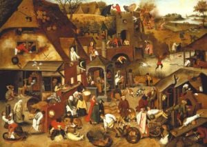 The Flemish Proverbs by Pieter Brueghel The Elder