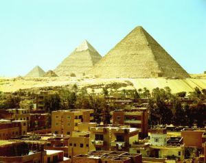 The Pyramids of Giza, c.2589 BC by Egyptian Art