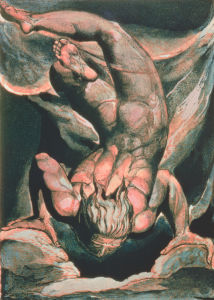 Man floating upside down, 1794 by William Blake