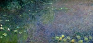 Waterlilies: Morning, 1914 (centre right section) by Claude Monet