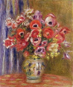 Vase of Tulips and Anemones, c.1895 by Pierre Auguste Renoir