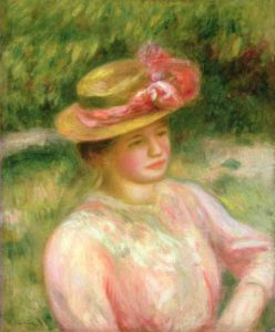 The Straw Hat, 1895 by Pierre Auguste Renoir