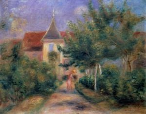 Renoir's house at Essoyes, 1906 by Pierre Auguste Renoir