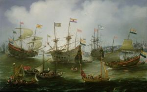 The Return to Amsterdam of the Fleet by Andries Van Eertvelt