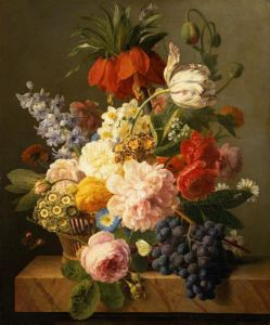Still Life with Flowers and Fruit, 1827 by Jan Frans Van Dael