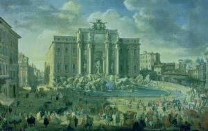 The Trevi Fountain in Rome, 1753 by Giovanni Paolo Panini