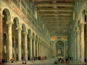 Church of San Paolo Fuori le Mura, Rome, 1750 by Giovanni Paolo Panini