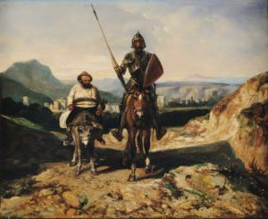 Don Quixote and Sancho by Alexandre Gabriel Decamps