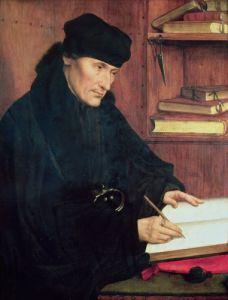 Portrait of Erasmus of Rotterdam by Quentin Massys