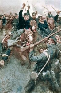 Jackson's Brigade before the Federal Onslaught at Bull Run by Howard Pyle