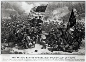 The Second Battle of Bull Run, 29th August 1862 by American School