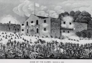The Siege of the Alamo, 6th March 1836 by American School